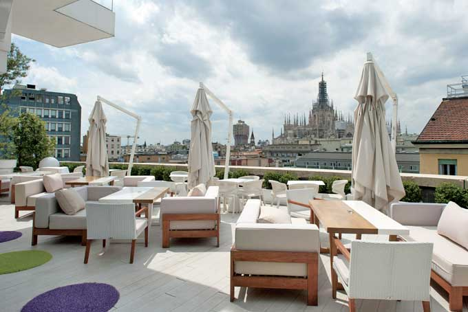Hotel Boscolo Rooftop Bar Milan A Place in Milan