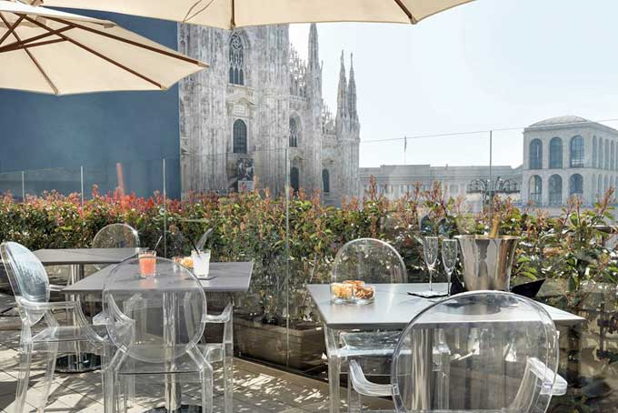 Duomo 21 Rooftop Bar Milan A Place in Milan