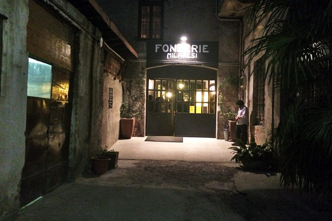 Fonderie Milanesi A Place in Milan Entrance