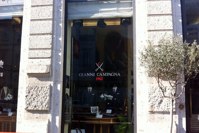 Gianni Campagna Men's Stores A Place in Milan