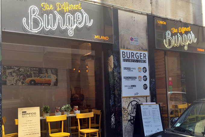 The Different Burger A Place in Milan