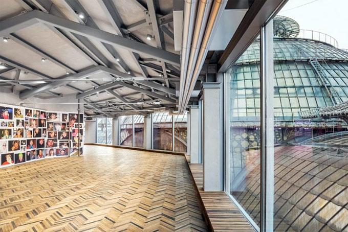 A snap of the space at the Osservatorio Prada in Milan's Galleria  © Fondazione Prada