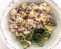 #ConoscoUnaSchiscia: insalata di tre risi con zucchine grigliate