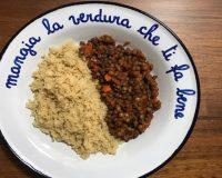 #ConoscoUnaSchiscia: cous cous integrale con lenticchie e zenzero