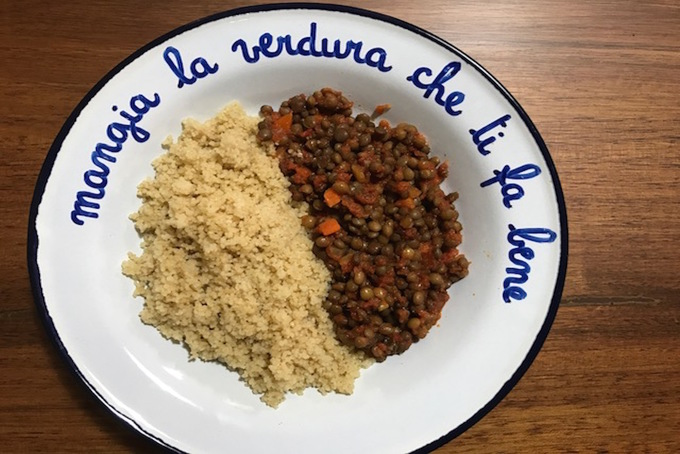 #ConoscoUnaSchiscia: cous cous con lenticchie