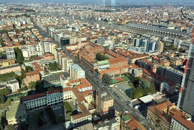 Una Vista Mozzafiato Su Milano Dal Belvedere Di Palazzo